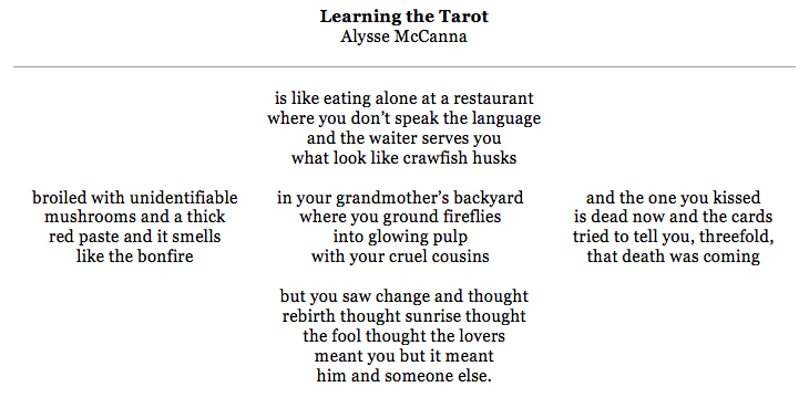Learning the Tarot by Alysse McCanna